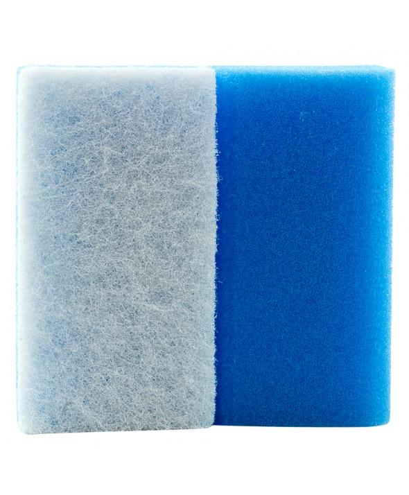 Schuurspons Blauw / wit