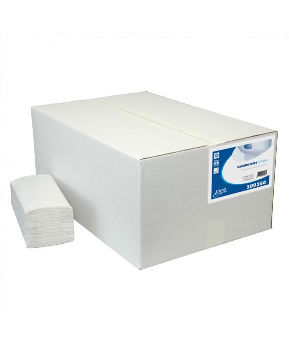 Handdoekjes zig zag wit