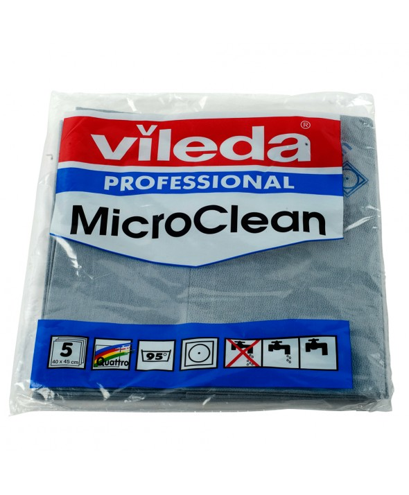 Vileda MicroClean - Microvezeldoek - 40 x 45 cm - Grijs - per 5 stuks