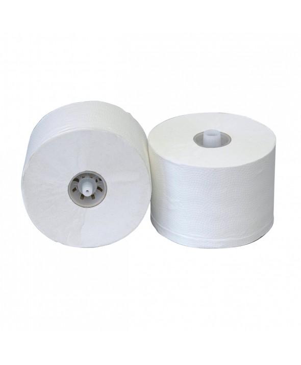 Toiletpapier met dop - wit - recycled tissue - 2 laags - 100 meter - 36 rollen