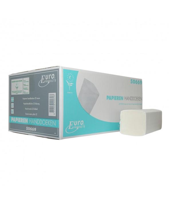 Handdoekjes - Zig zag - zuiver tissue - wit - 2 laags