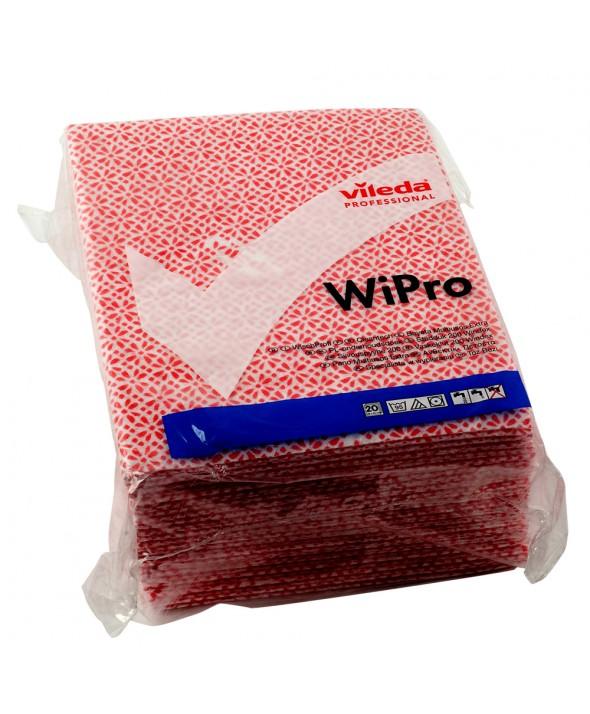Vileda WiPro - onderhoudsdoek - 42 x 36 cm - rood - 20 stuks