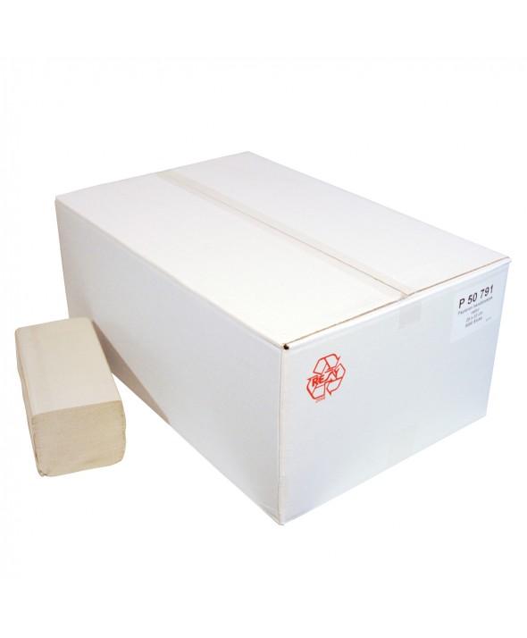Handdoekjes - Zig zag - Naturel - Eco - 1 laags - 23 x 25 cm - 5000 stuks