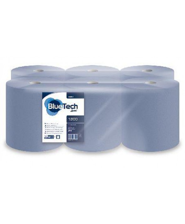 Poetsrol - Blue Tech - 1 laags - 300 m - 6 rollen / colli