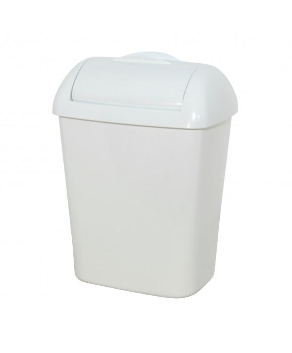 Hygiëne bak - Kunststof Wit - 8 liter met muurbevestiging