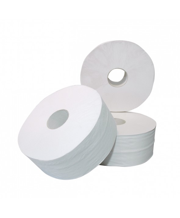 Toiletpapier Maxi Jumbo Rol Cellulose - 2 laags - 300 m