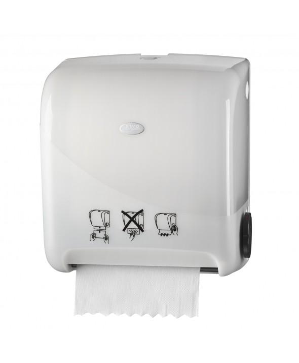Euromatic Handdoekdispenser Autocut - Pearl White